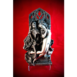 Death and the Maiden Relief in Silver Finish