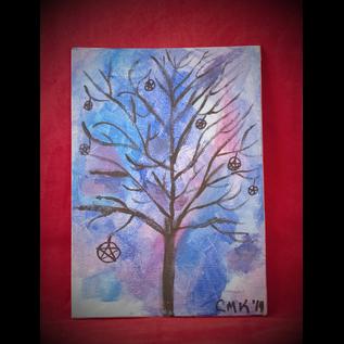 Pentacle Tree by Connie Kelleher