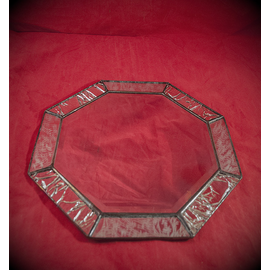 6 Inch Eight-Sided Mirror Featuring a 1 Inch Silver Border