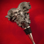 Hex Bacchus Wine Stopper In Silver Finish