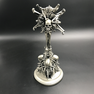 Hex Requiem Monstrance Candlestick Holder in Silver Finish