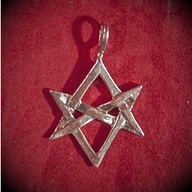 Unicursal Hexagram in Silver