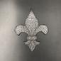 Hex Stained Glass Fleur De Lis
