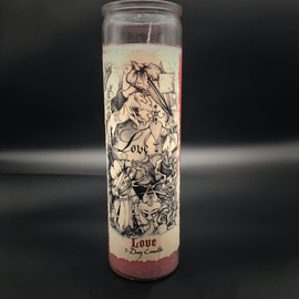 7 Day In-House Labelled Candles 7-Day Love Candle by Sabrina the Ink Witch