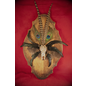 Raccoon Skull Altar Piece with Feathers