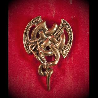 Ax Knot Dragon in Bronze