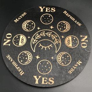 Black Moon Pendulum Board - 6 Inch in Black Style 2