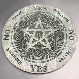Voron Wood Pentacle, fancy pentagram with elements 6 inch in Ebony
