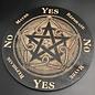Voron Wood Pentacle, fancy pentagram with elements 8 inch in Black