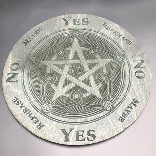 Voron Wood Pentacle, fancy pentagram with elements 10 inch in Ebony