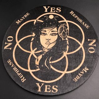 Magic Girl Pendulum Board - 6 inch in Black