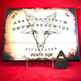 Baphomet Spirit Board with Planchette by Heather Reid