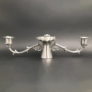 Claddagh Pewter Wedding Candestick Holder 9 inches - Made in Ireland