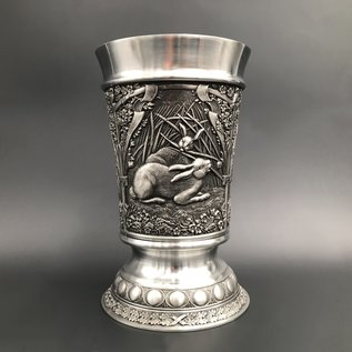 Hare Pewter Breakers with Woodlands Design - Made in Ireland