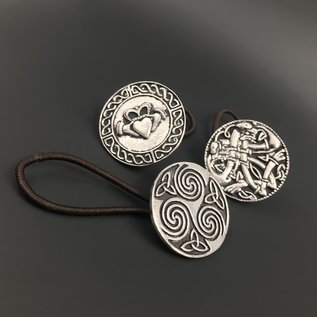 Pewter Celtic Hair Bobbles - Made in Ireland