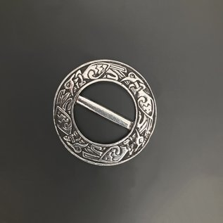 Scarf Ring with Celtic Motif - Made in Ireland