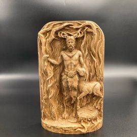 Ash Wooden Cernunnos Statue - 8 inches Tall