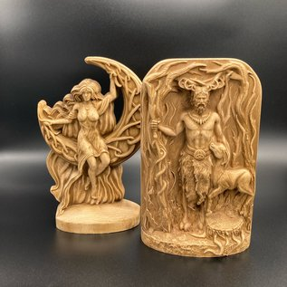 Ash Wooden God and Goddess Statues  - 8 inches Tall