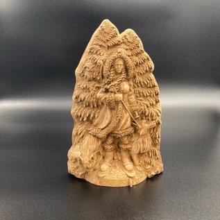 Ash Wooden Skadi Statue - 8 inches Tall