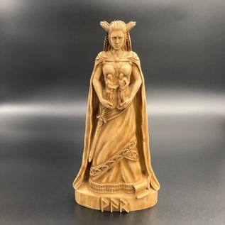 Ash Wooden Var Statue - 8.4 inches Tall