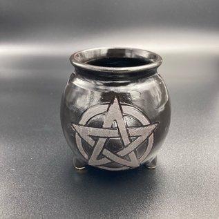 Upright Pentagram Cauldron Mug without Handle