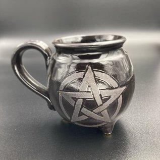 Upright Pentagram Cauldron Mug with Handle