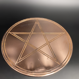 Double- Lined Altar Pentacle - 6 Inches Wide in Copper