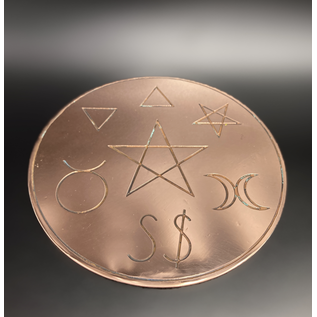 British Traditional Witchcraft Altar Pentacle - 6 Inches Wide in Copper