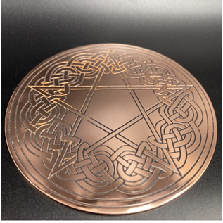 Celtic Altar Pentacle - 6 Inches Wide in Copper
