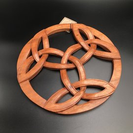 Celtic Triple Triquetra Wall Hanging in Mahogany