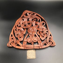 Triskel in Circle Wall Hanging in Mahogany