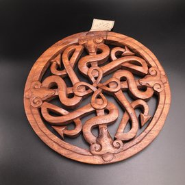 Celtic Fertility Knot Wall Hanging in Mahogany