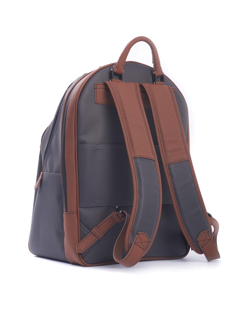 Carbon Fiber Backpack, Tan Leather