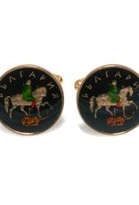 Hand Enameled Coin Cufflinks - Bulgaria