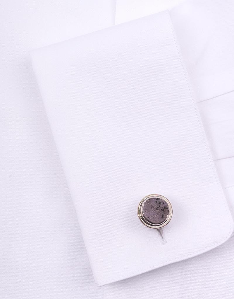 Sterling Silver Lilac Speckle Drusy Cufflinks