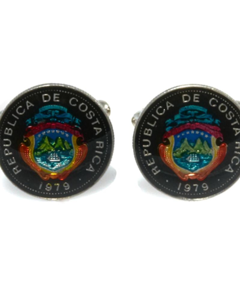 Hand Enameled Coin Cufflinks - CostaRica