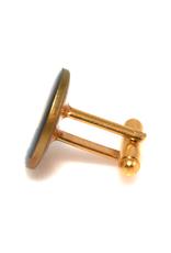 Hand Enameled Coin Cufflinks - Egypt