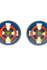 Hand Enameled Coin Cufflinks - England