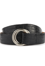Matte Crocodile Belt with O-ring buckle
