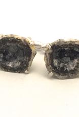 Trancas mine geode in white bronze Cufflinks