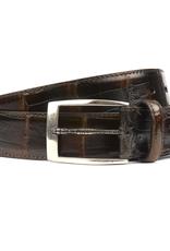 Cayman Yacare Crocodile Belt with snake buckle, Brown