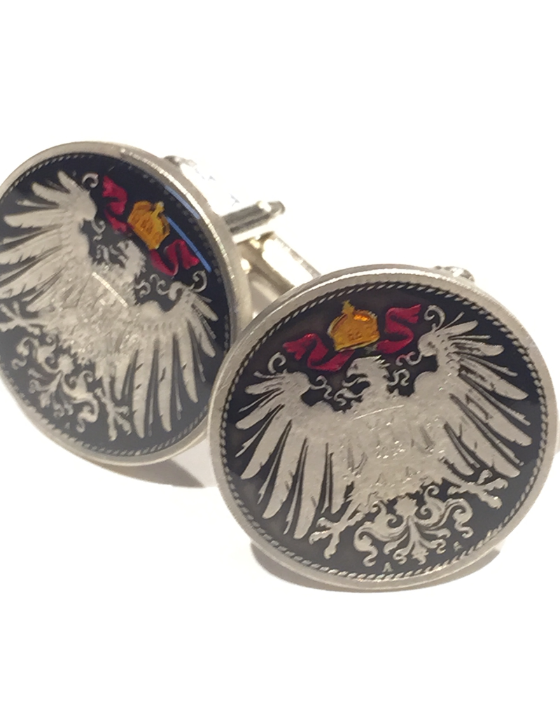 Hand Enameled Coin Cufflinks - Germany