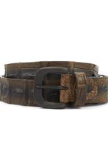 Hornback Crocodile belt- Taupe