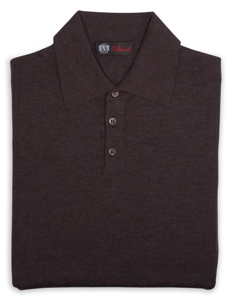 70%WS 30%SE Polo Sweater - P-16406