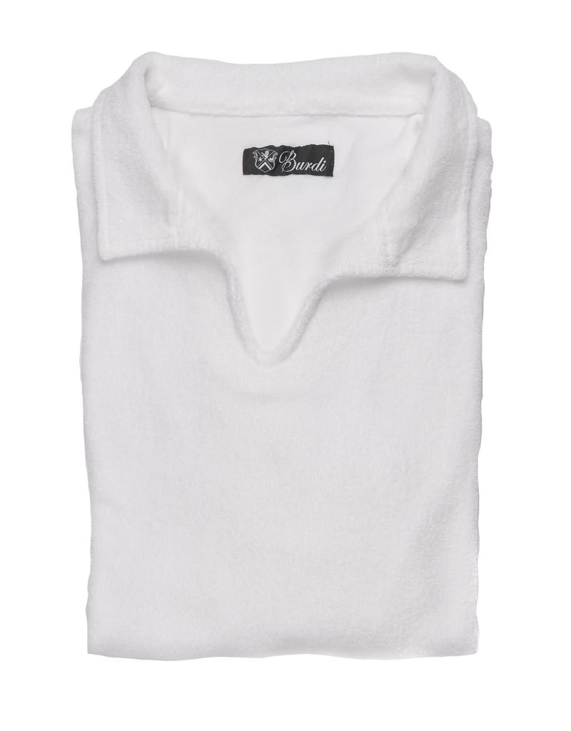 100%CO Terry-cloth open neck long sleeve Polo