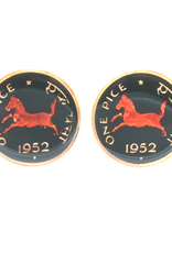 Hand Enameled Coin Cufflinks - India