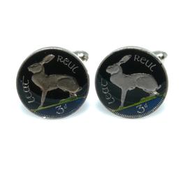 Hand Enameled Coin Cufflinks - Ireland