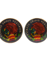 Hand Enameled Coin Cufflinks - Mexico