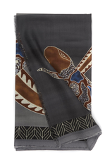 100%WS Featherweight Scarf Intertwined Snake - Gray & Brown