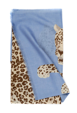 100%WS Featherweight Scarf Jaguars - Blue & Tan